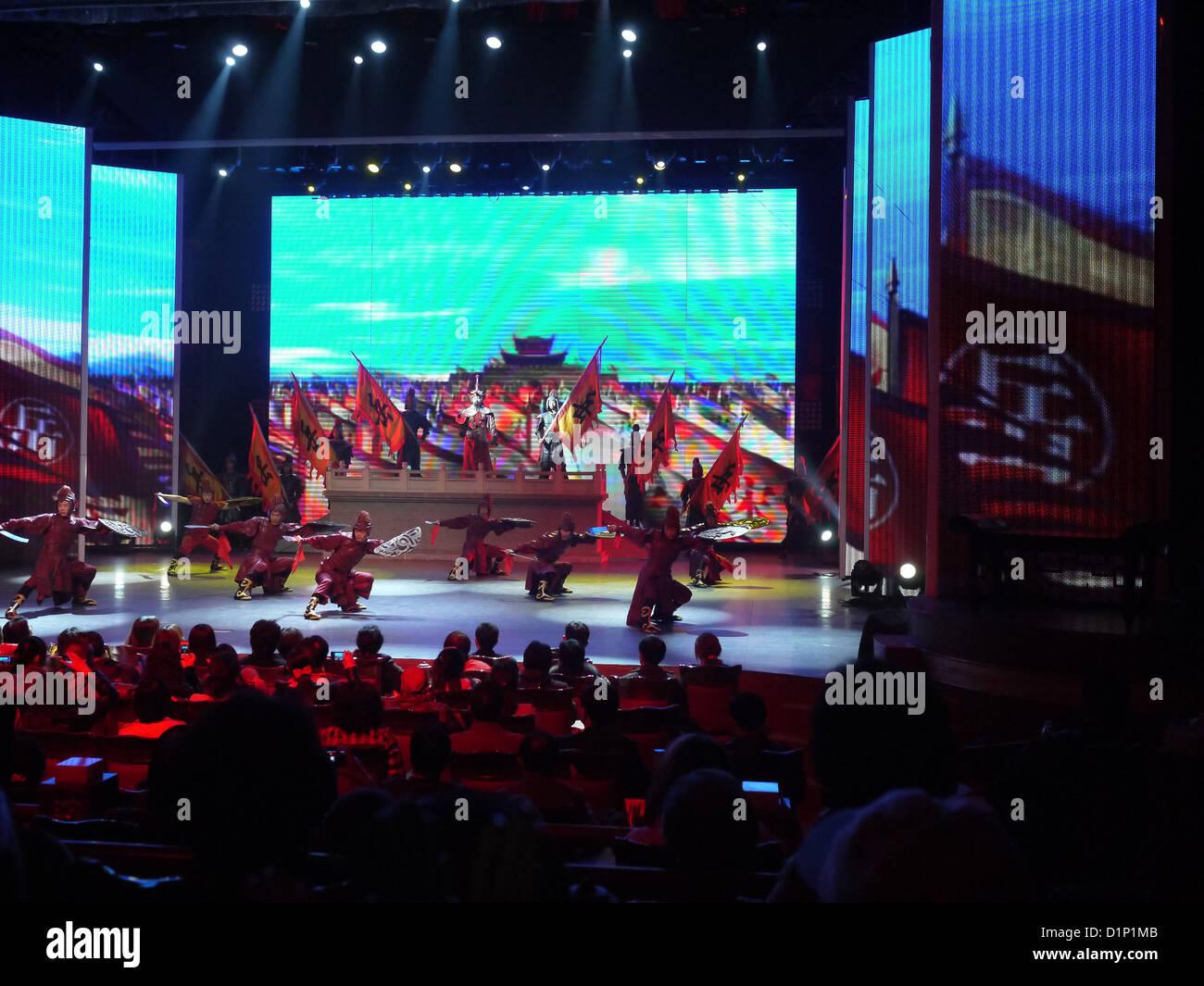 im chinesischen Theater Performance Publikum Stockbild
