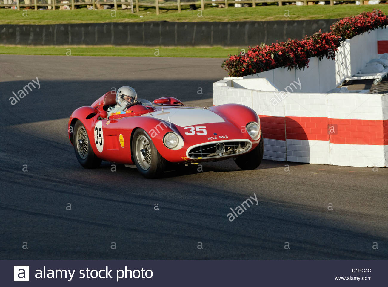 Maserati-Rennwagen auf dem Goodwood Revival Meeting 2012 Stockbild