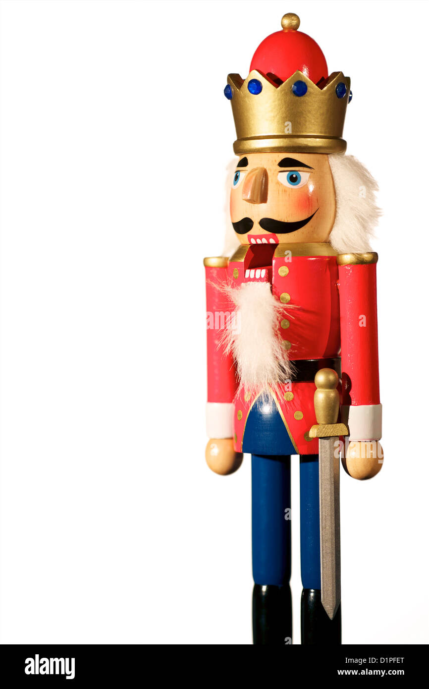 Hölzerne Nussknacker Soldat Weihnachts-Dekoration mit Mund öffnen ...