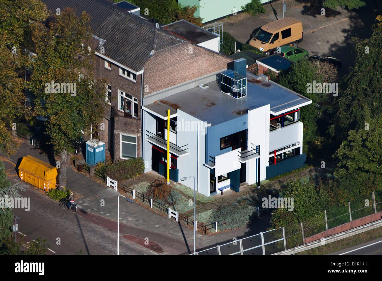 Niederlande Utrecht Rietveld Schröder Haus Luft Stockfoto Bild