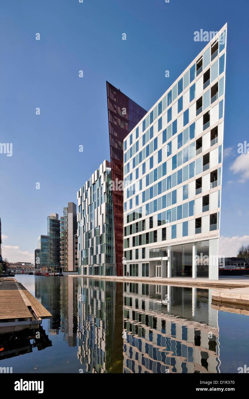 Carmine Gebäude in Merchant Square, Paddington Basin, entworfen vom Architekten Mossessian & Partner. Stockbild