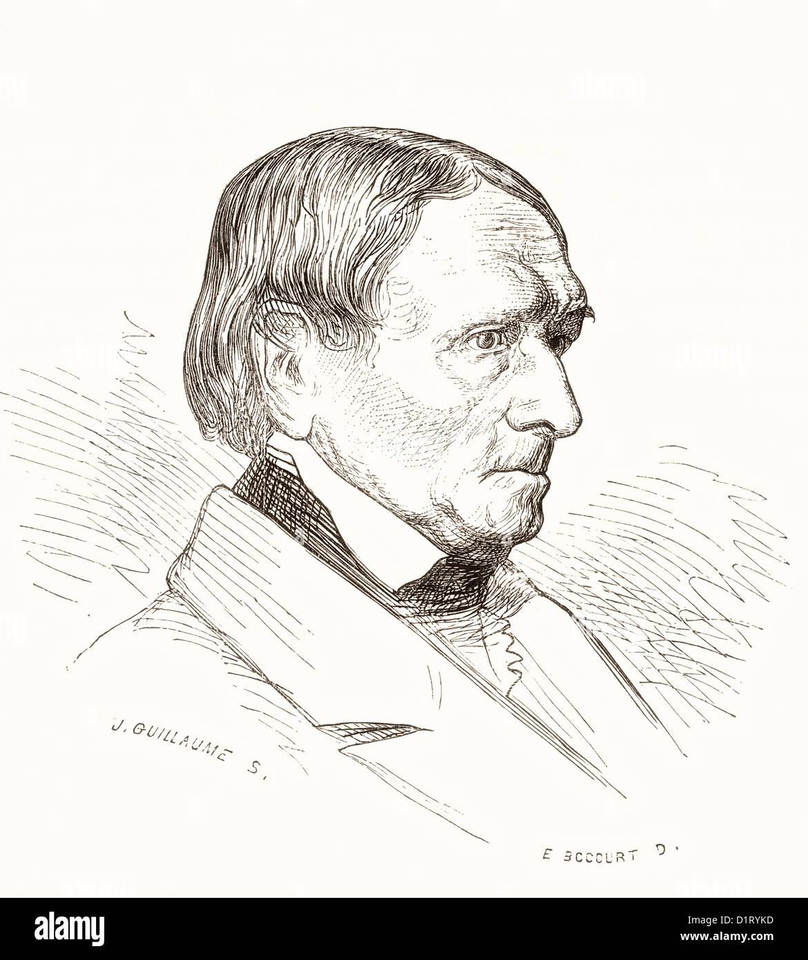 Peter von Cornelius, 1784-1867. Deutscher Künstler. Stockbild