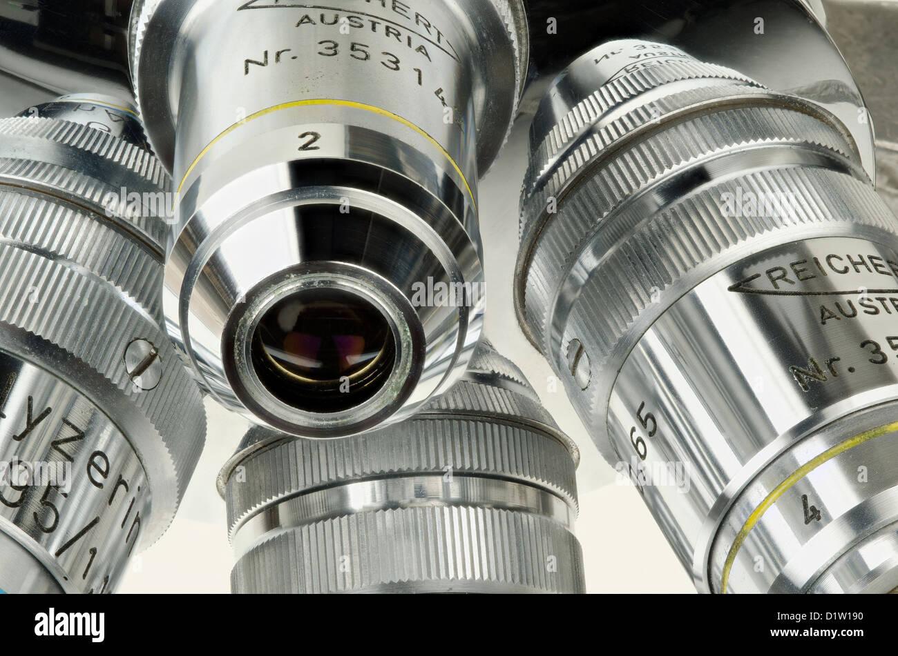 Reichert drehbaren objektivrevolver mikroskop objektive vier