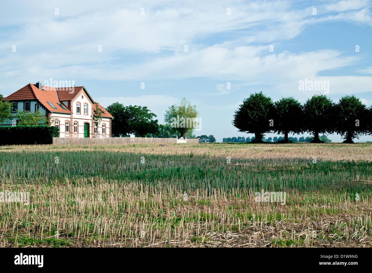 Landschaft in Insel Poel, Deutschland Stockbild