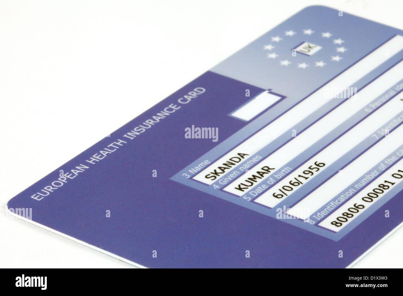 E111 European Health insurance Card 2013 Stockbild