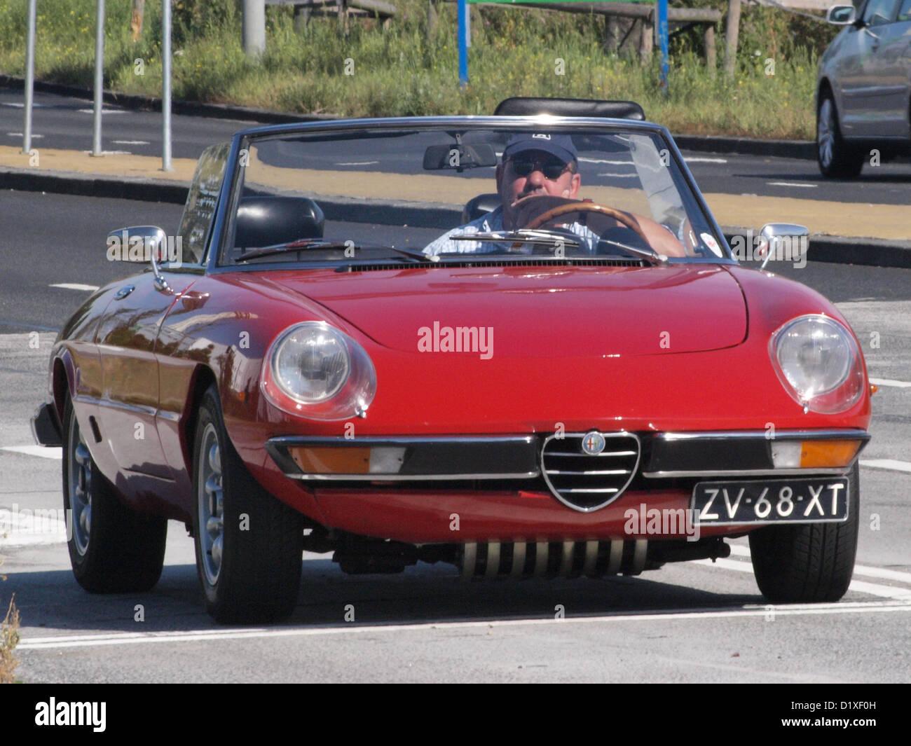 Oldtimer Treffen Haarlem Alpha Romeo 2000 Spider Veloce Stockbild