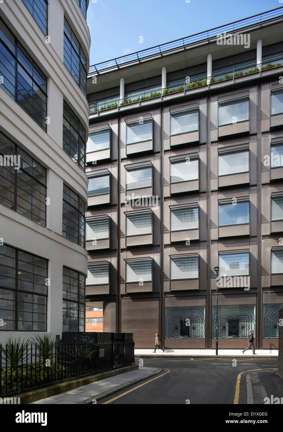 UCH MACMILLAN CANCER CENTRE, London, Vereinigtes Königreich. Architekt: Hopkins Architekten Partnership LLP, Stockbild