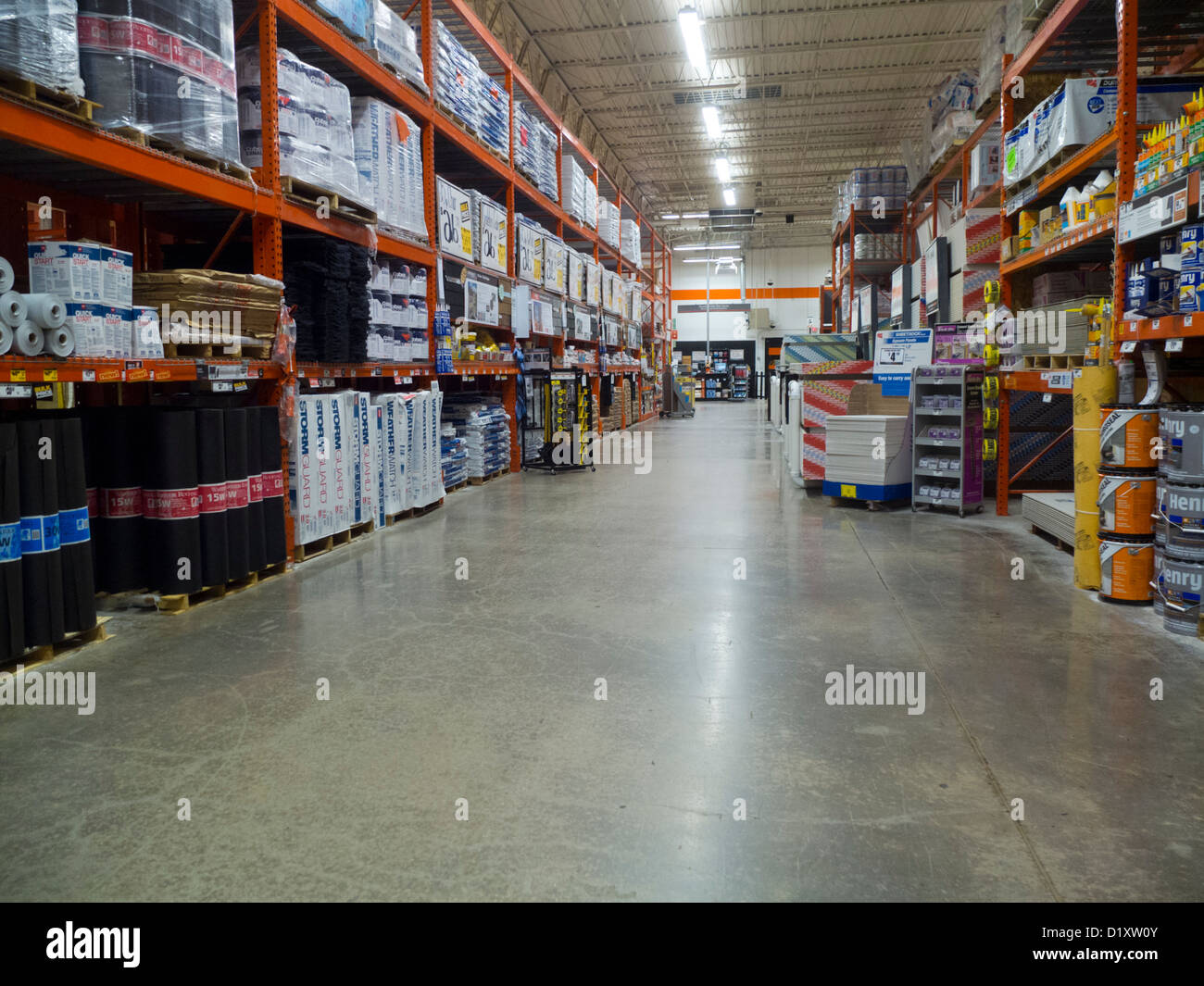 Home Depot Shop Lager Stockfoto Bild 52836139 Alamy