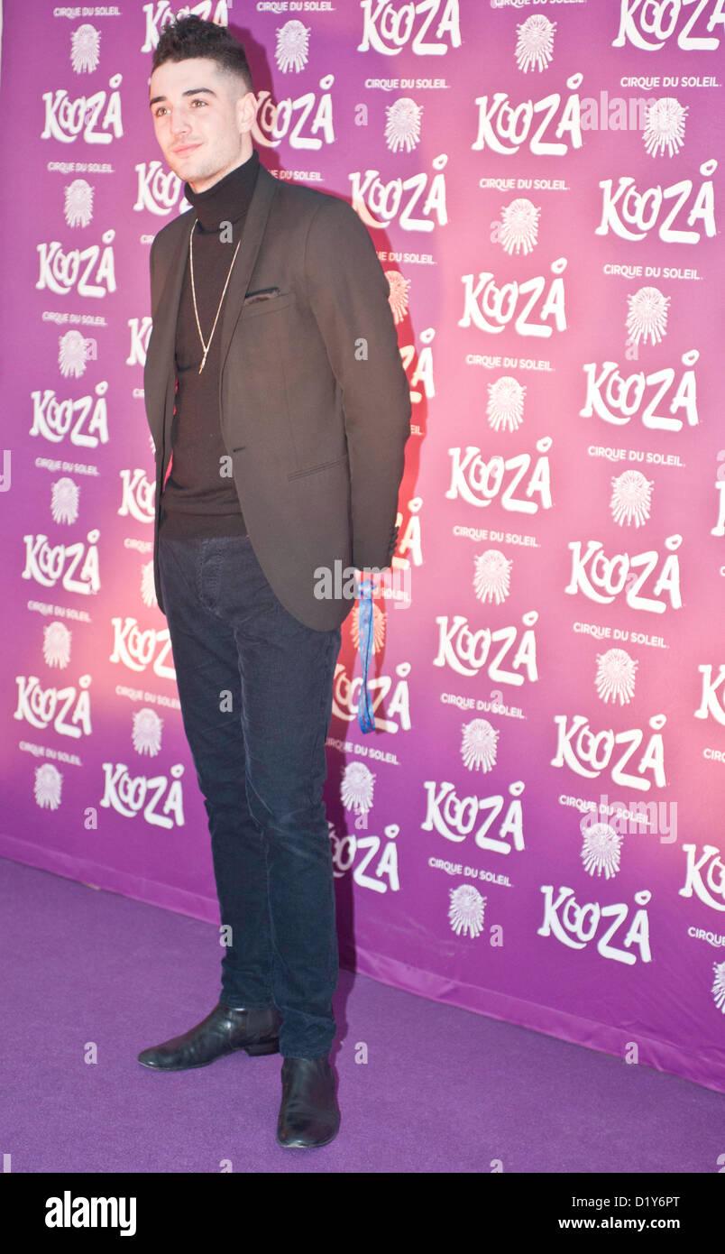 London, UK - 8. Januar 2013: Prominente kommen bei der Europapremiere von Cirque du Soleil neueste Show KOOZA in Stockbild