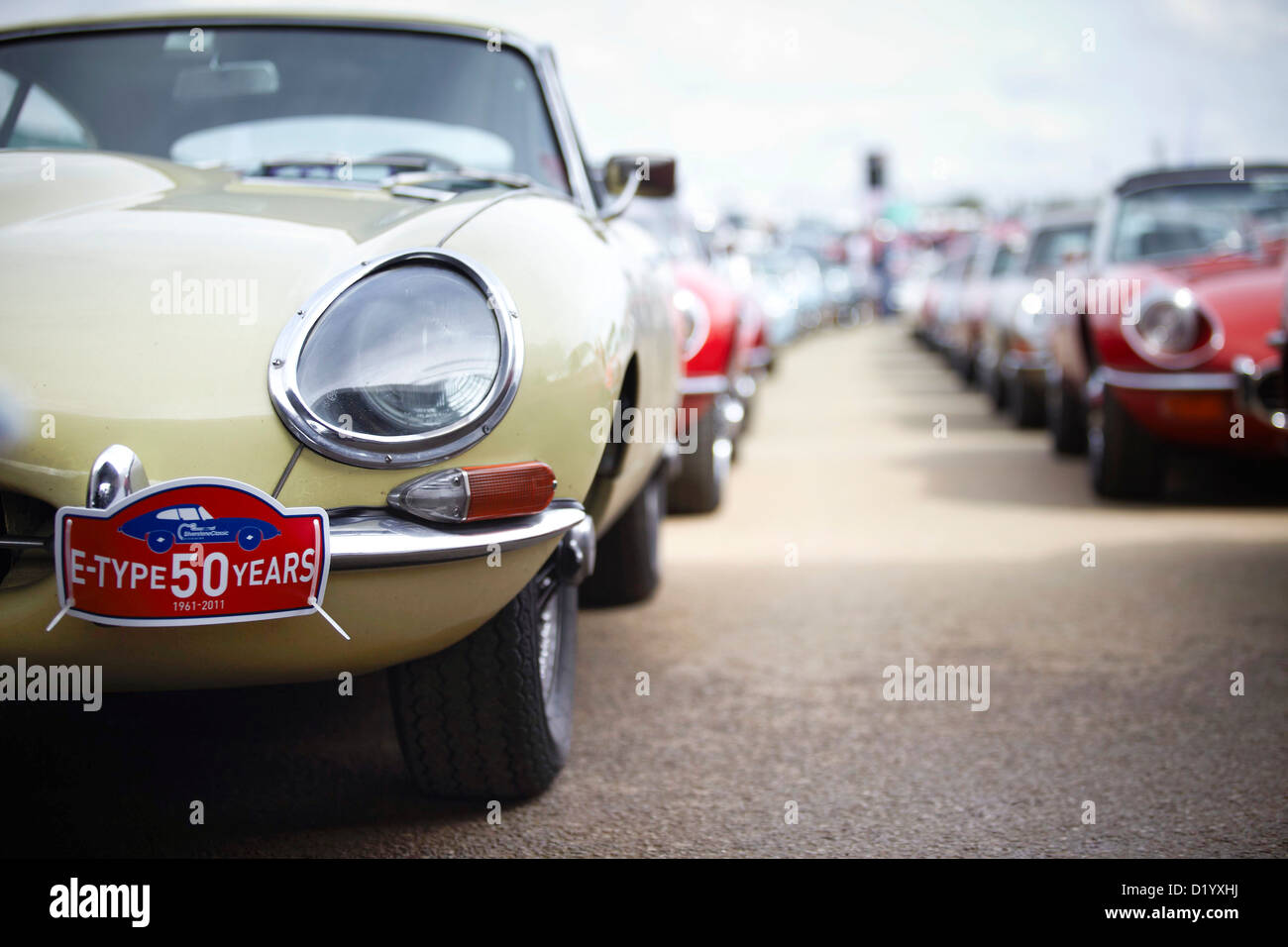 Das Silverstone Classic Car event Stockbild