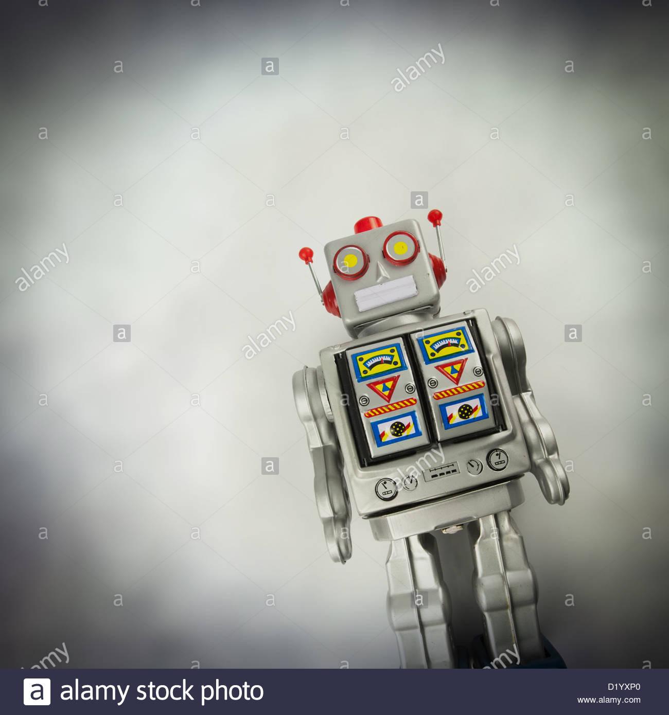 Vintage Blech Roboter Stockbild