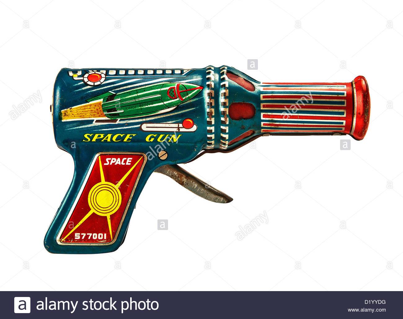 Retro-Raum Pistole Stockbild