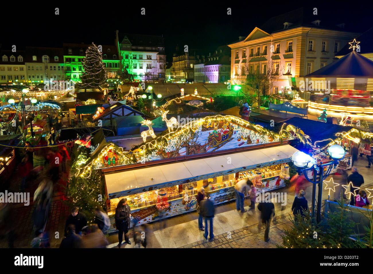 Landau Weihnachtsmarkt.Weihnachtsmarkt Landau Rheinland Pfalz Deutschland