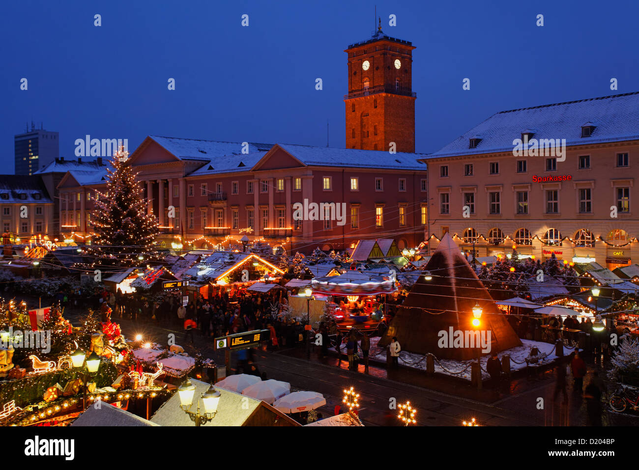 Karlsruhe Weihnachtsmarkt.Weihnachtsmarkt In Karlsruhe Baden Württemberg Deutschland