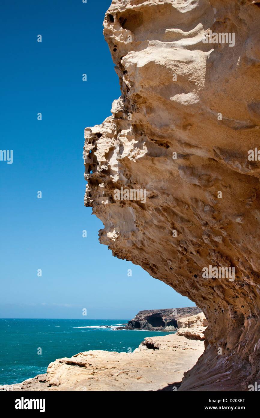 Kreidefelsen, Puerto De La Pena, Ajuy, Fuerteventura, Kanarische Inseln, Spanien Stockbild