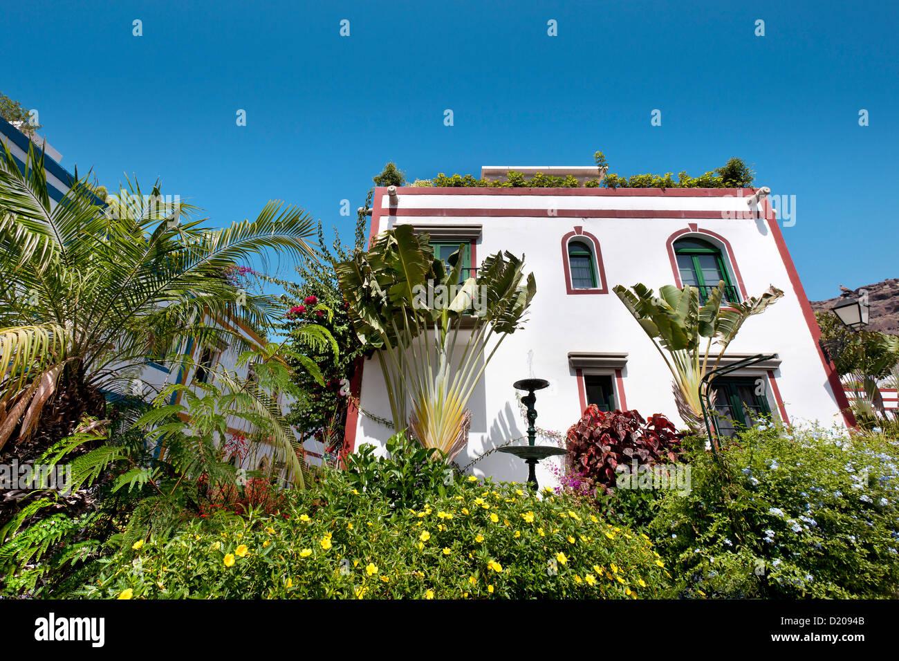 Haus in der Sonne, Puerto de Mogan, Gran Canaria, Kanarische Inseln, Spanien, Europa Stockbild