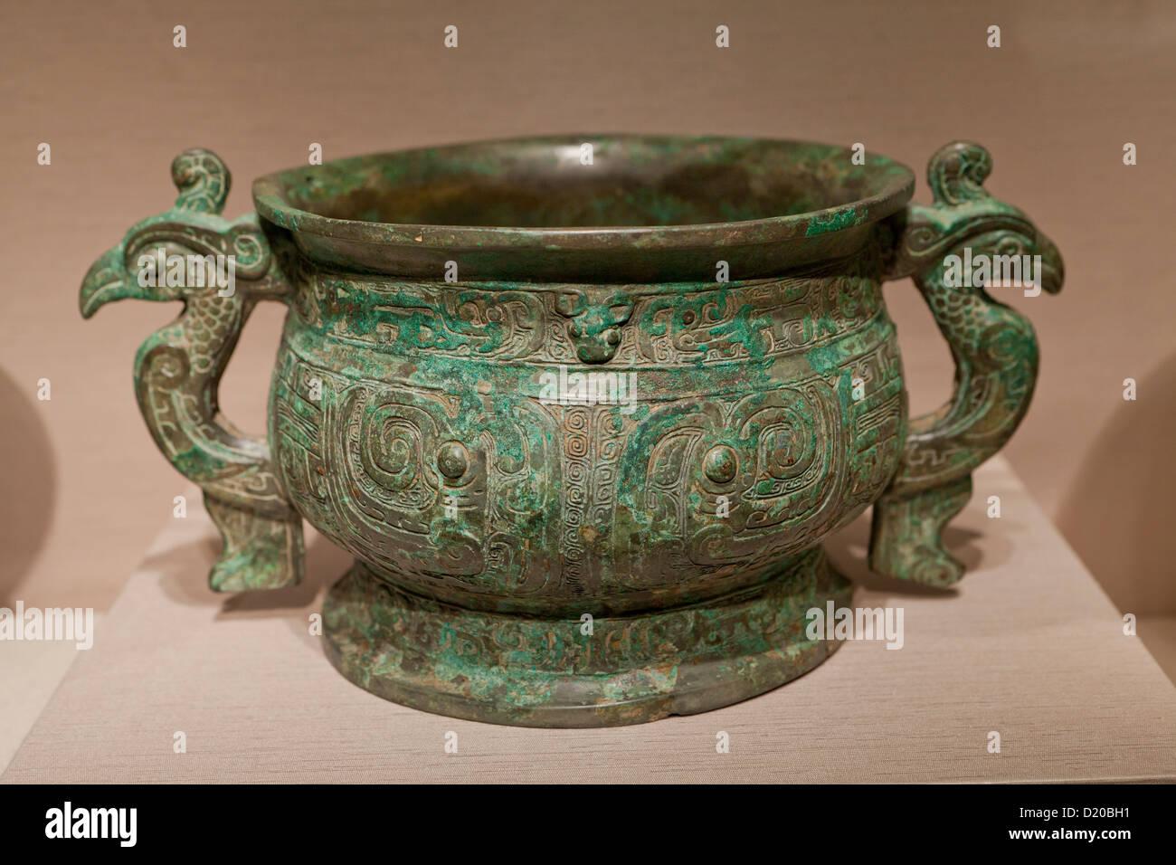 Rituelle Lunchbox - westlichen Zhou-Dynastie, 10. Jahrhundert v. Chr., China Stockbild