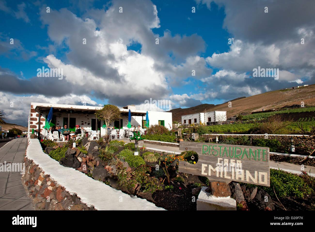 Restaurant Femes, Lanzarote, Kanarische Inseln, Spanien, Europa Stockbild