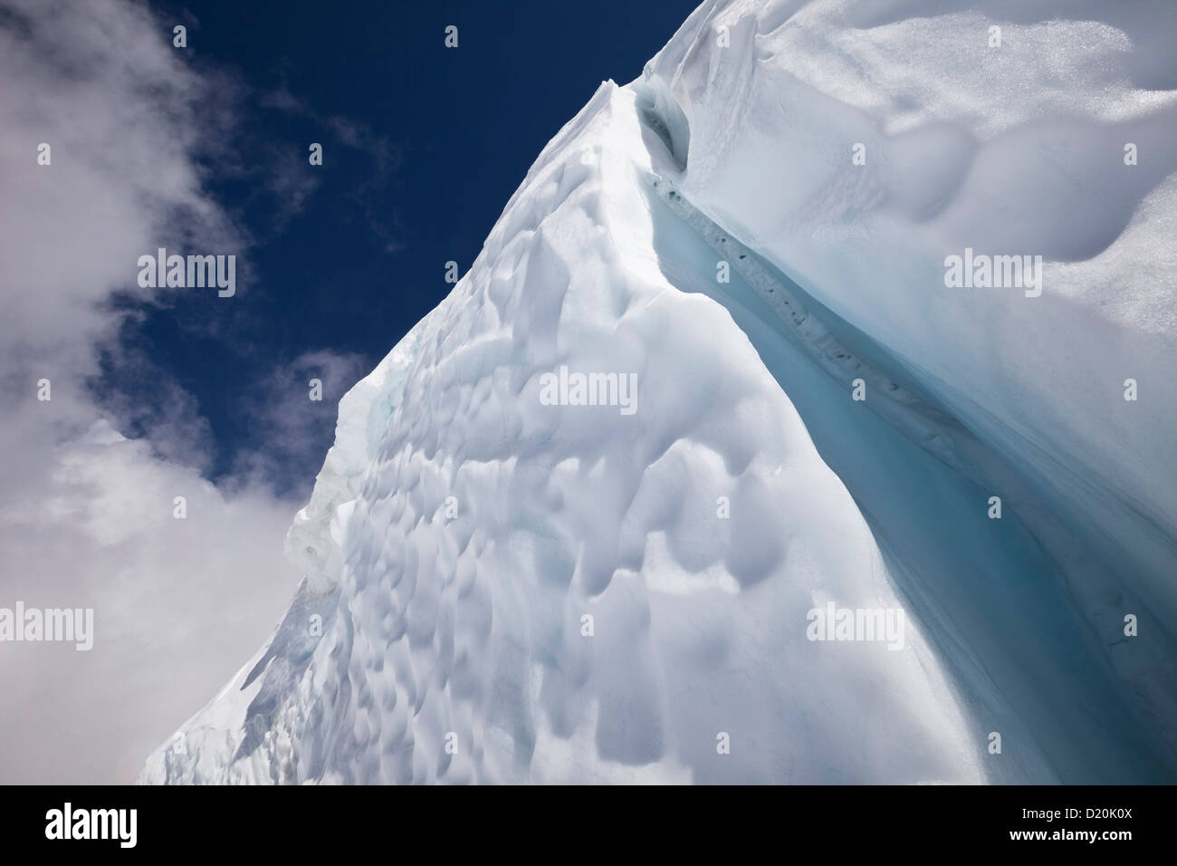 Klettersteig Chamonix : Eis riss am mont blanc du tacul chamonix frankreich