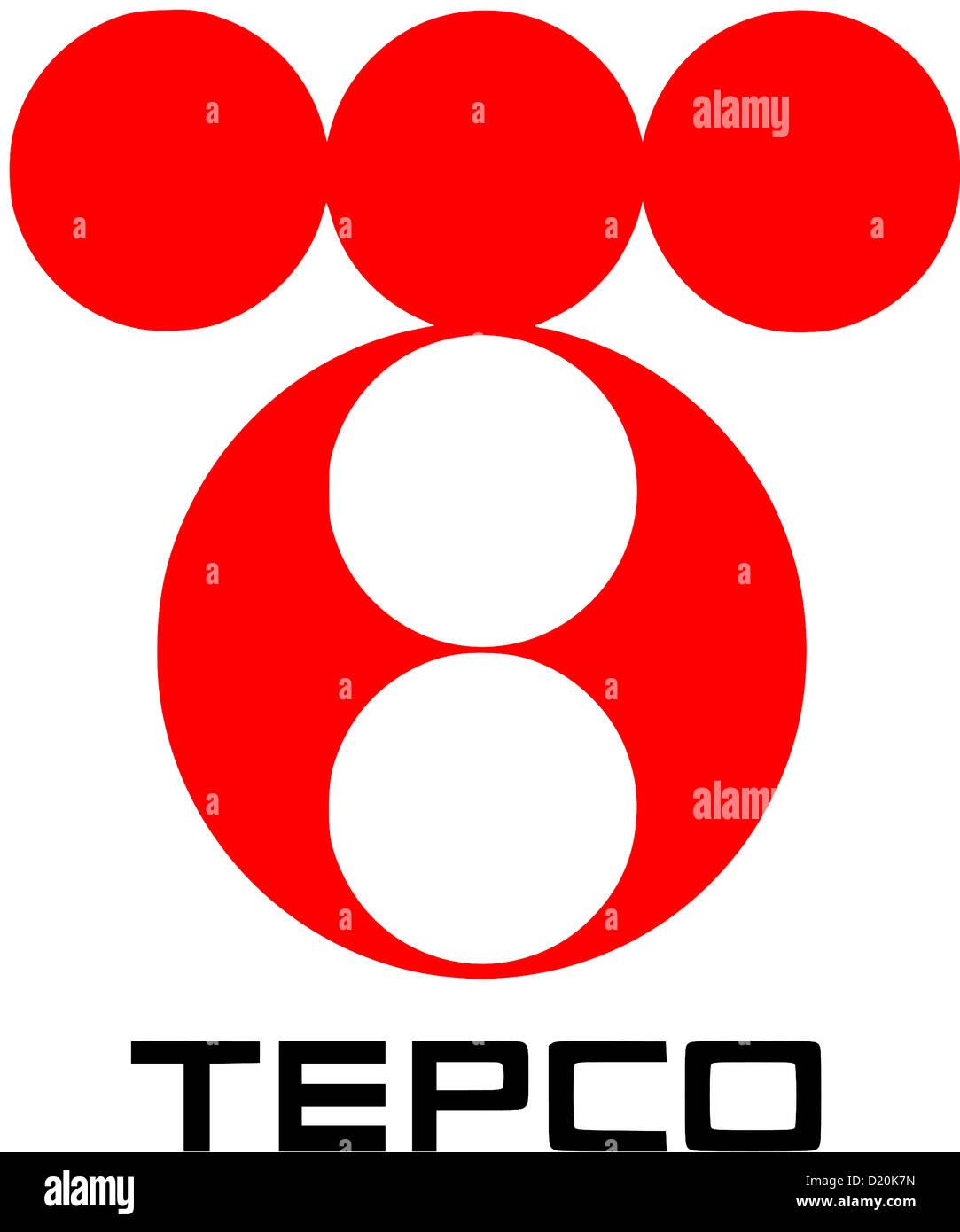 Logo der japanische Energiekonzern Tepco - Tokyo Electric Power Company Incorporated. Stockbild