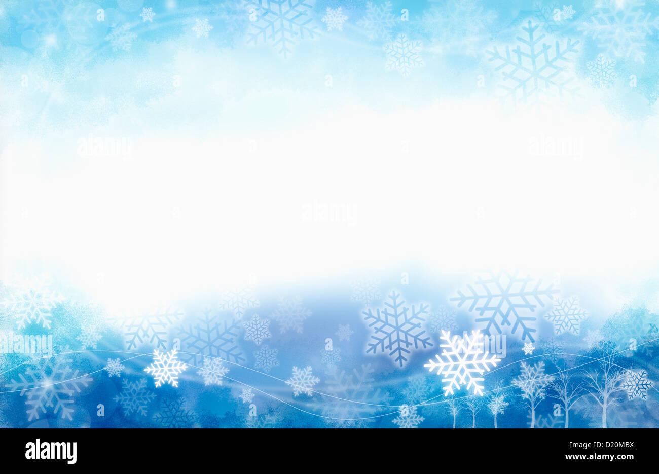 PPT-Vorlage von Schneeflocken mit einem eisigen Blau Hintergrund ...