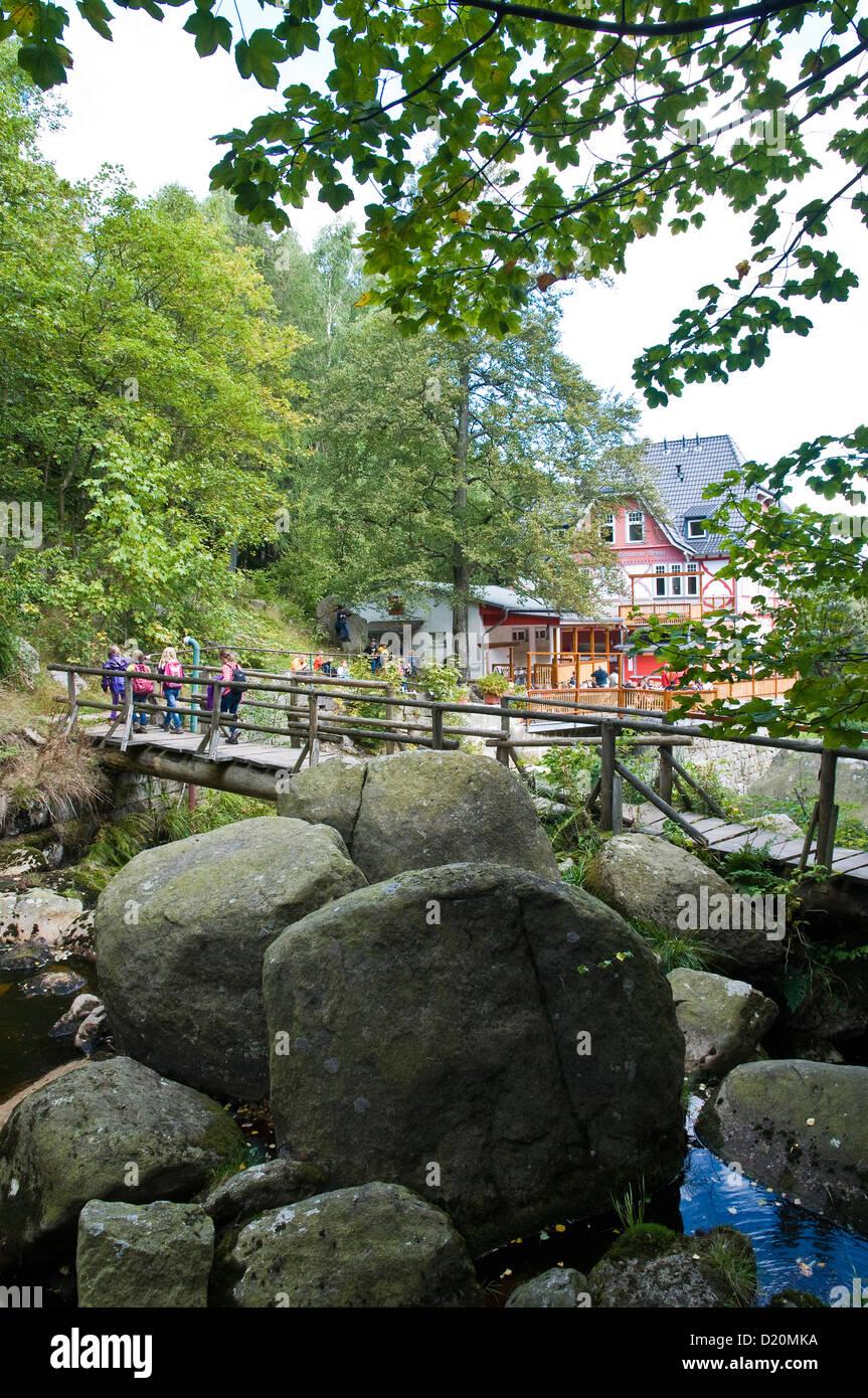 Mountain Inn Steinerne Renne, Harz, Sachsen-Anhalt, Deutschland Stockbild