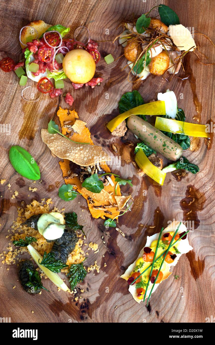 Koch Simon Rogans dekonstruiert populäre britische Küche ...