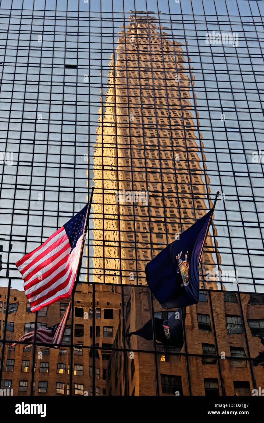 Bank of America in der 42 th Street, New York City, New York, USA Stockbild