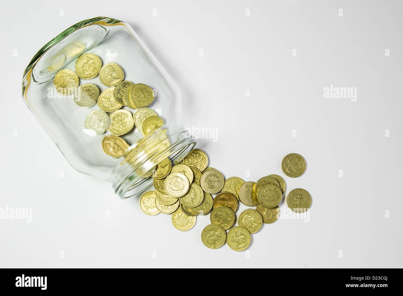 Einsparungen-Glas Stockbild