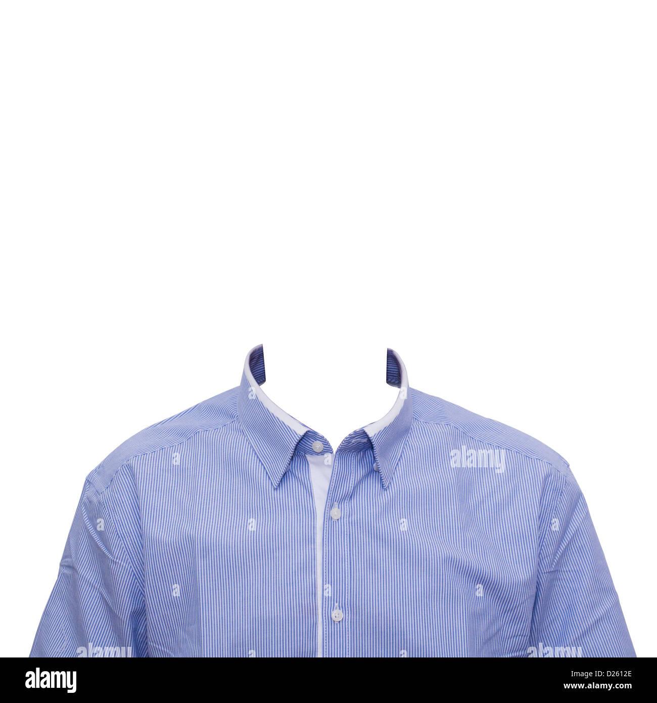 Kragen Shirt Vorlage für Konzept oder formalen Porträts Passfoto ...