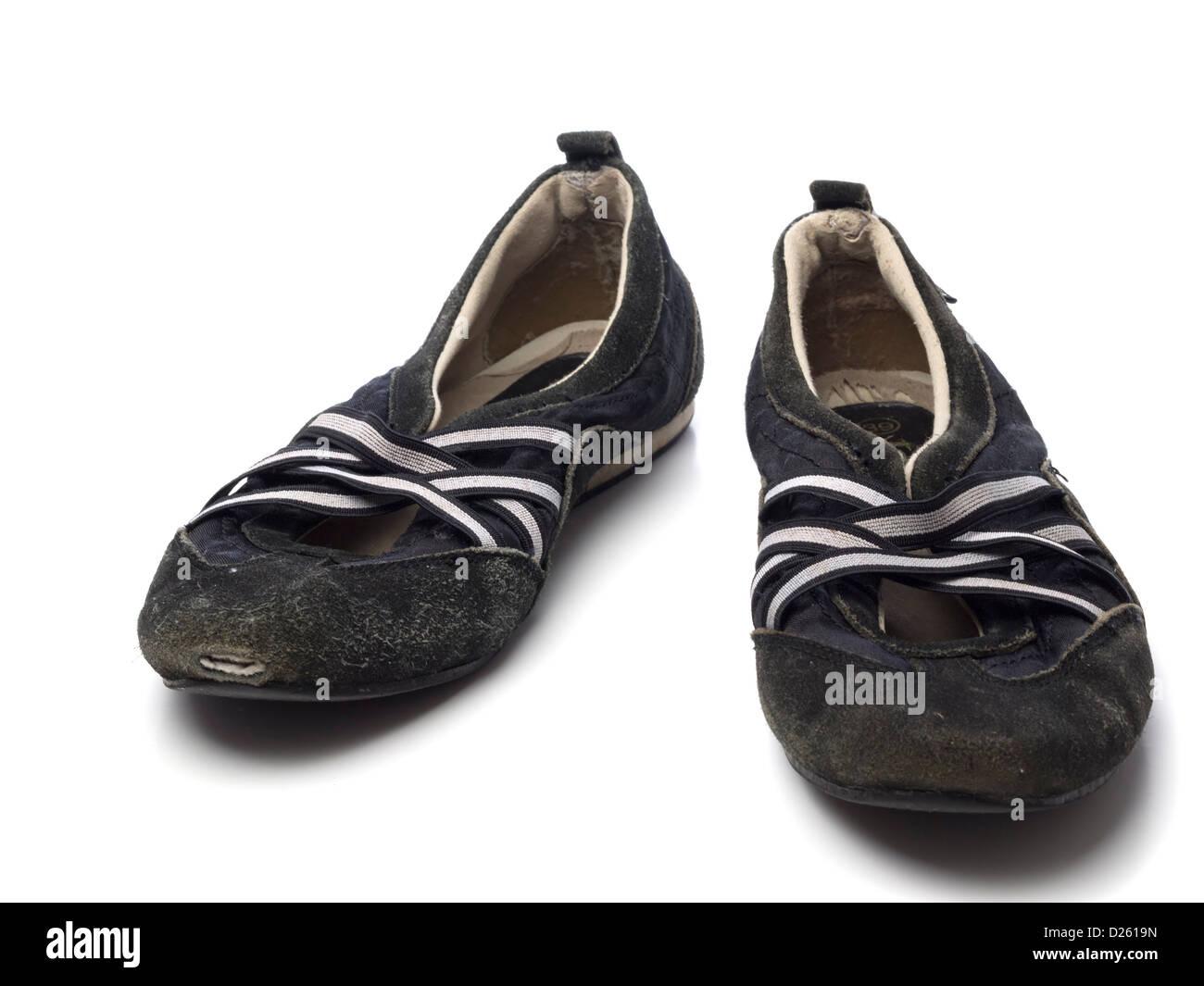 size 40 48c3f 849e1 Schwarze Flache Schuhe Stockfotos & Schwarze Flache Schuhe ...