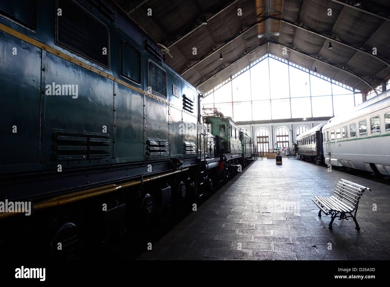 Train museum madrid stockfotos
