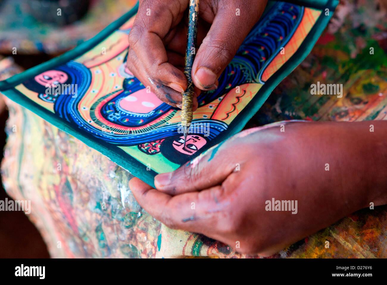Künstler Maler Az artist paint pots stockfotos artist paint pots bilder alamy