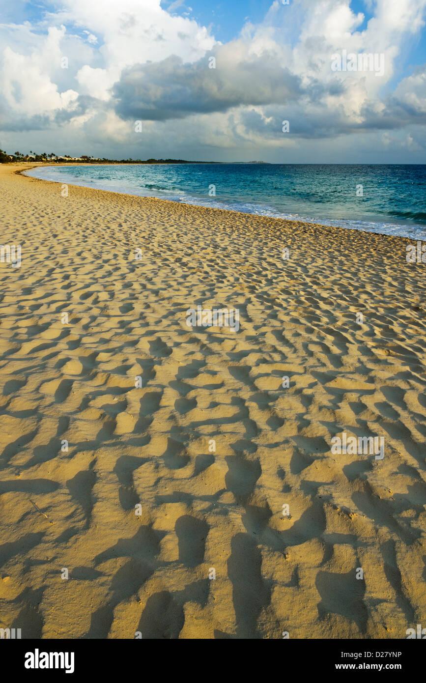 Strand bei Sonnenaufgang, Punta Cana, Dominikanische Republik, Caribbean Stockbild