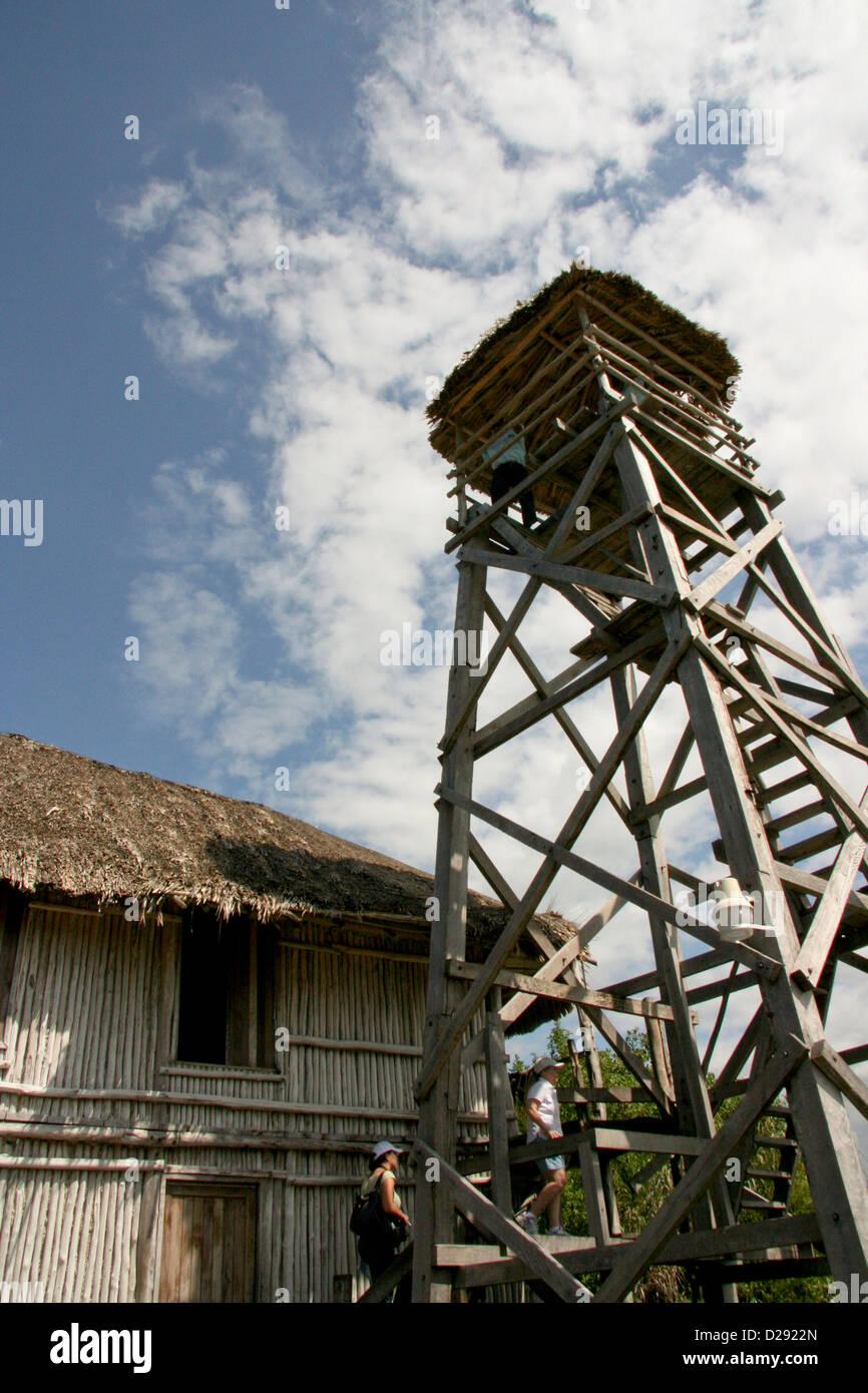 Aussichtsturm, Sian Ka Biosphäre In Quintana Roo. Mexiko Stockbild