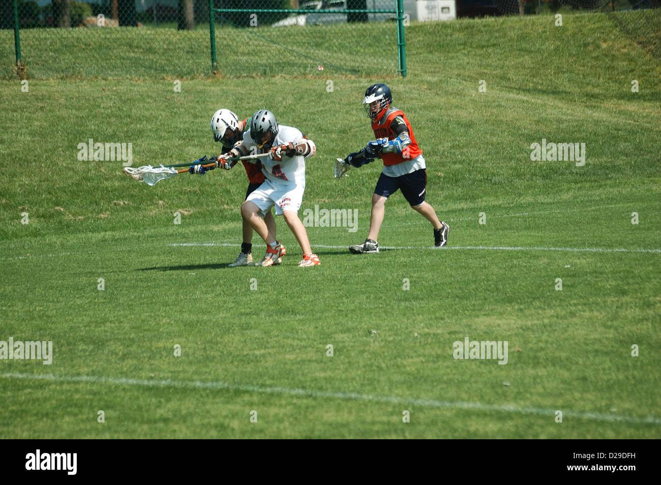 Virginia, Lacrosse-Spiel Stockfoto