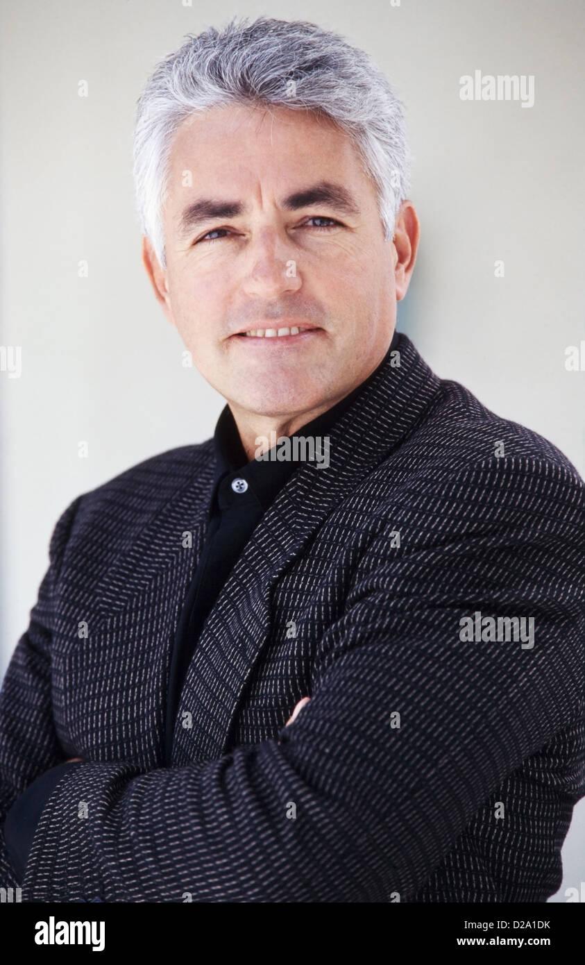 Portrait Mann mittleren Alters, im Business-Anzug, Herr 282 Stockbild