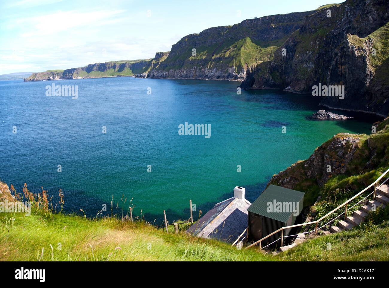 Schönste Bucht am Atlantik in Irland Stockbild