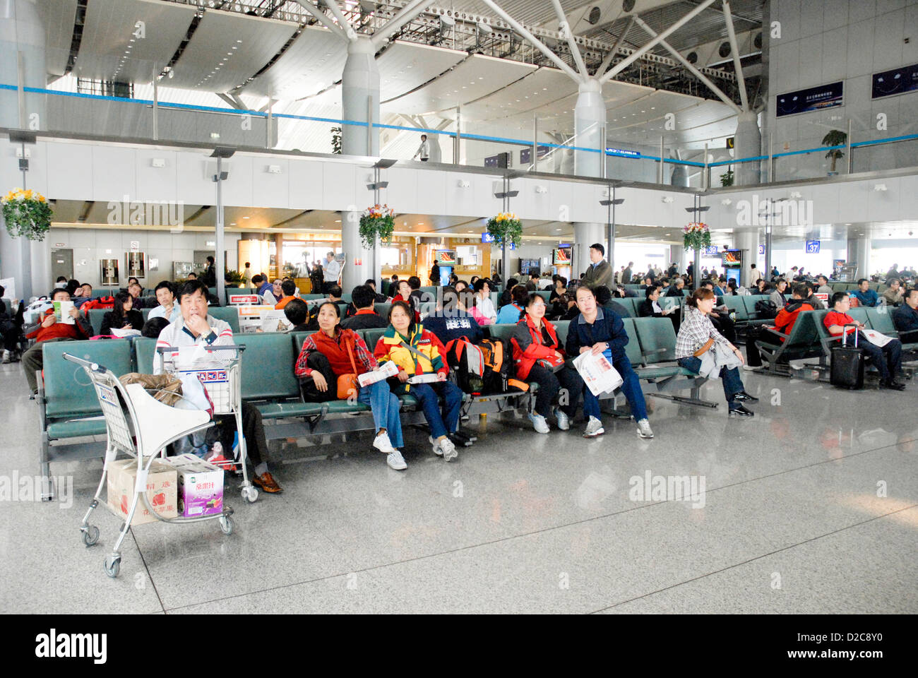 Beijing Capital Airport, China Stockbild