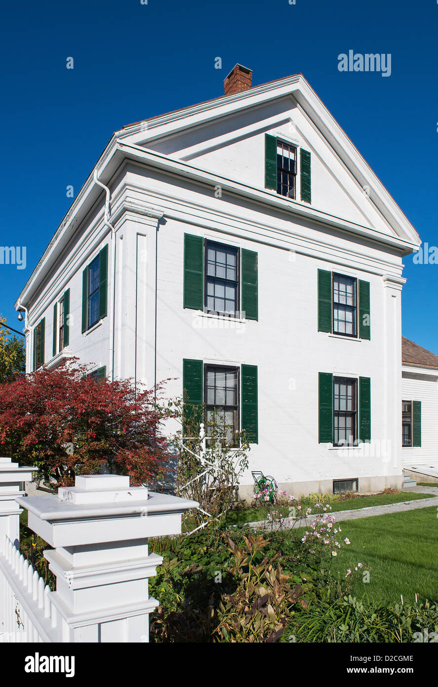 Farnsworth Homestead, Rockland, Maine, USA Stockbild