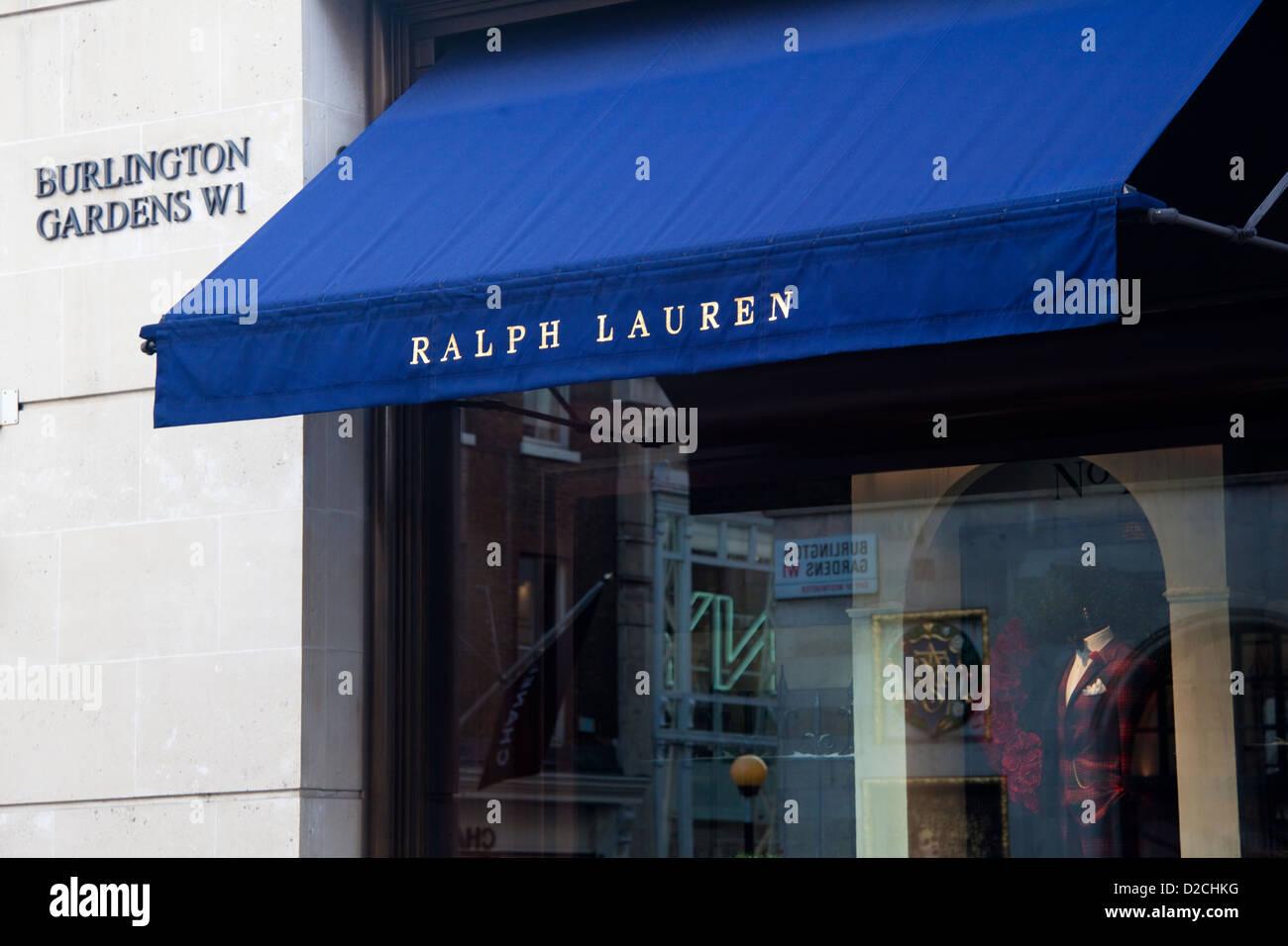 Ralph Lauren, Mode-Einzelhändler, Ecke des Burlington Gardens und Old Bond  Street, 7d9c524593