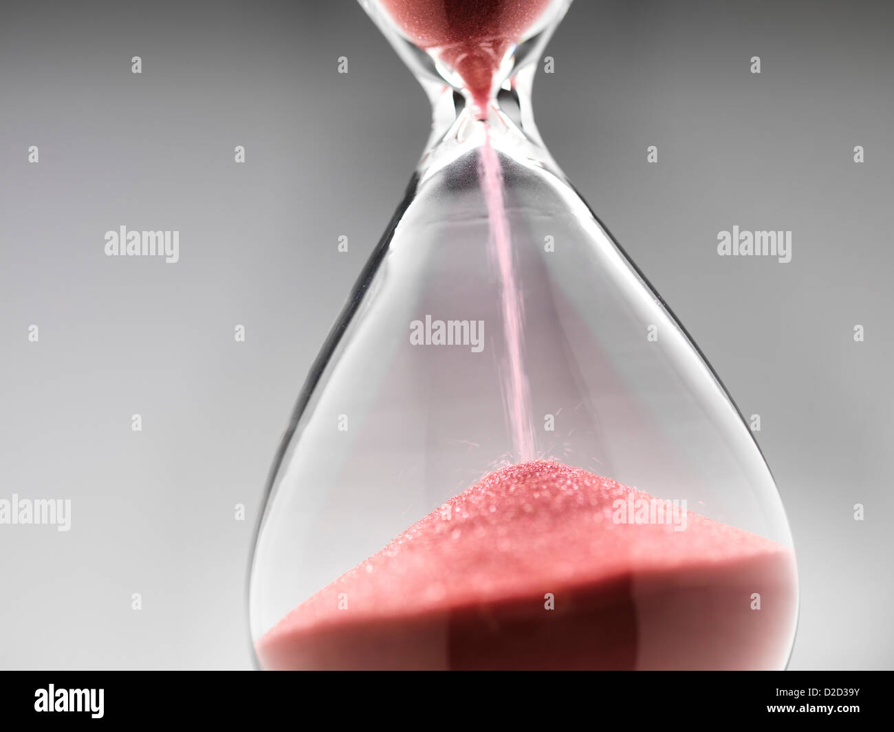 Stunde Glas Nahaufnahme Stockbild