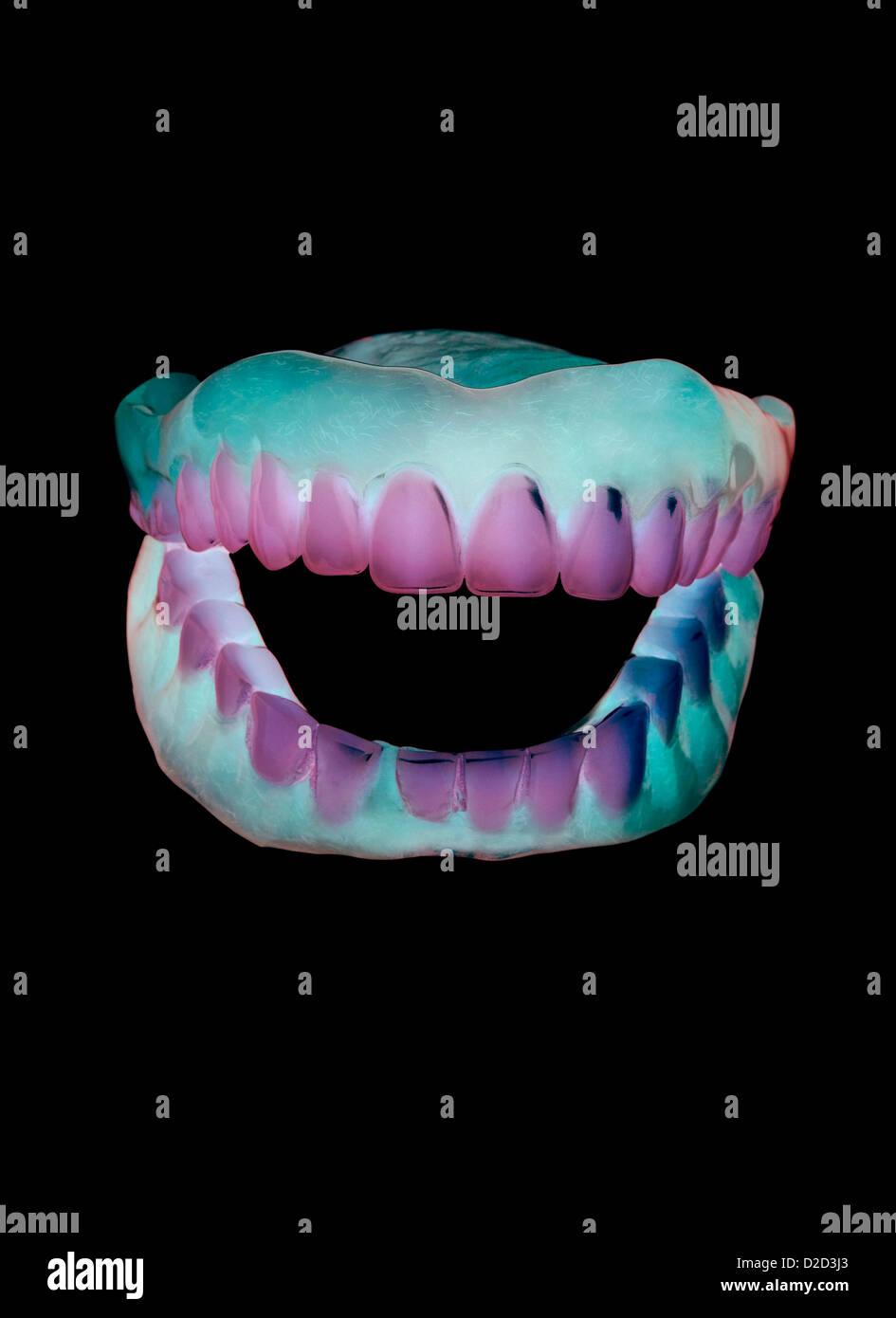 Falsche Zähne Stockbild