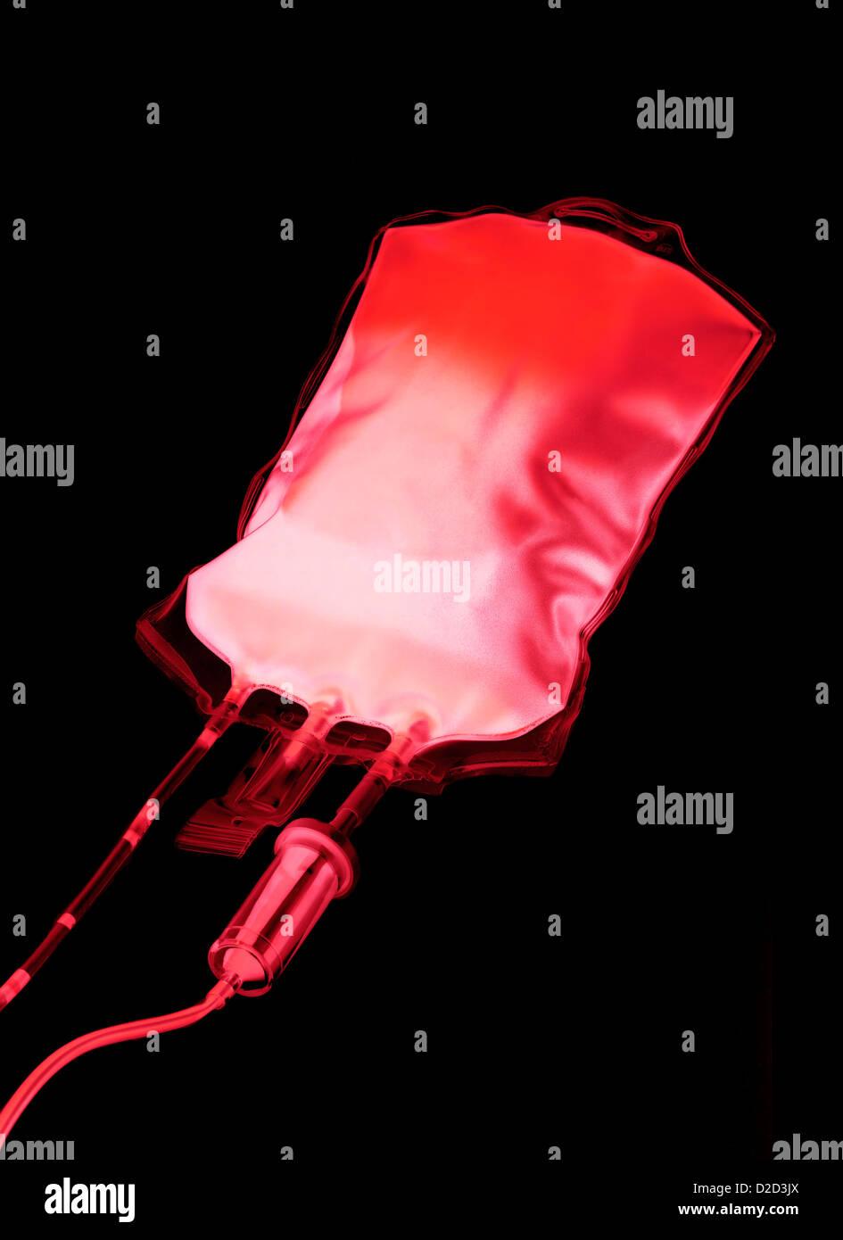 Blutbeutel Stockbild