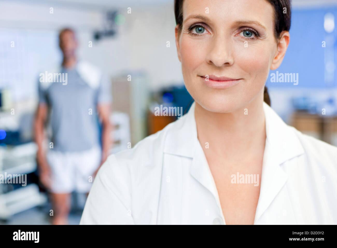 MODEL Release Sport Wissenschaft Forscher Stockbild