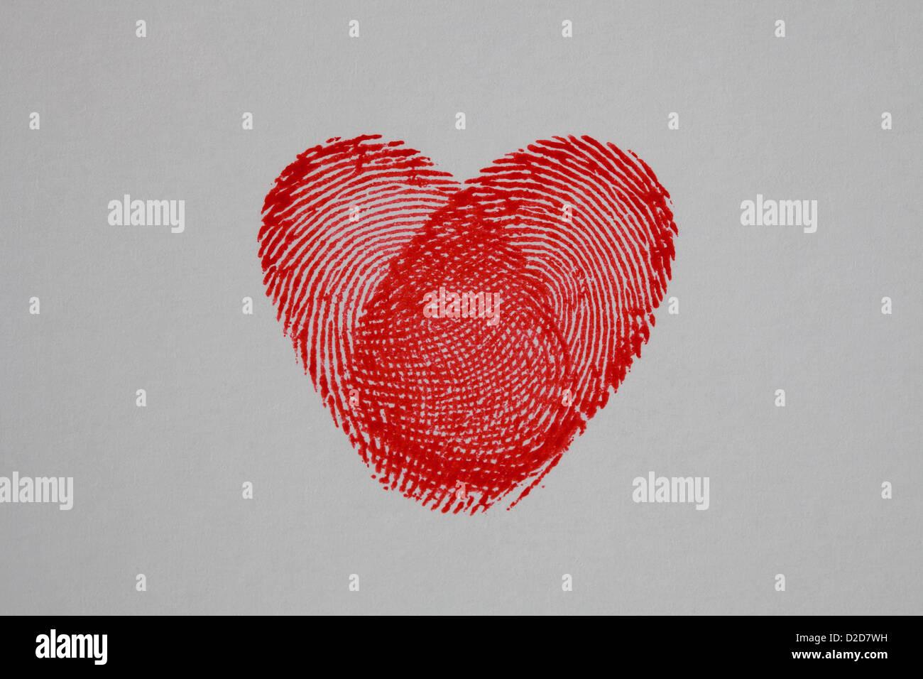 Fingerabdruck Herz Stockfoto Bild 53151997 Alamy