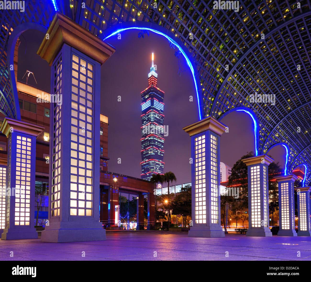 Taipei, Taiwan berühmt Stadtbild. Stockbild