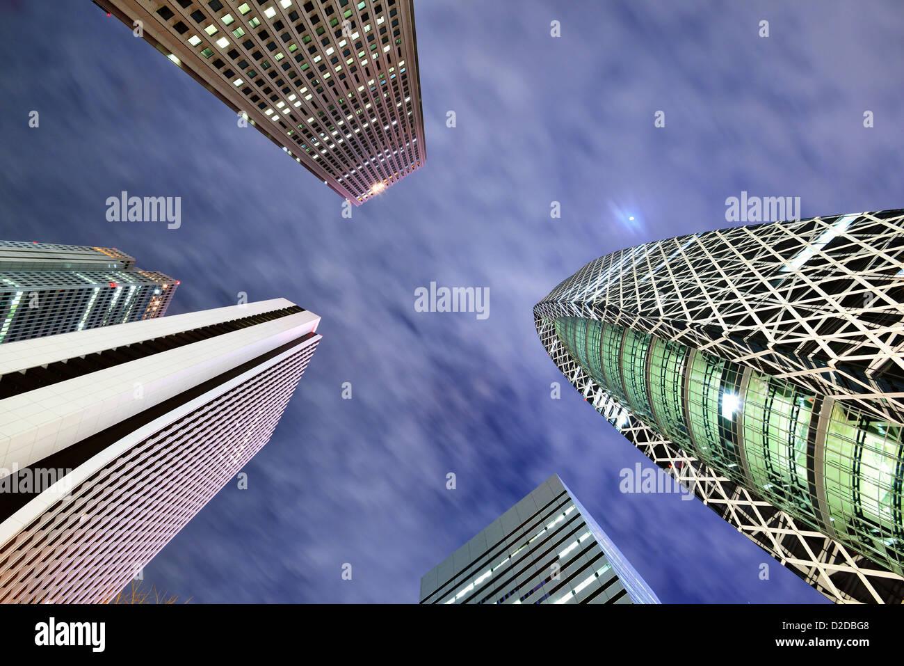 Hochhäuser im Bezirk Shinjuku, Tokio, Japan. Stockbild