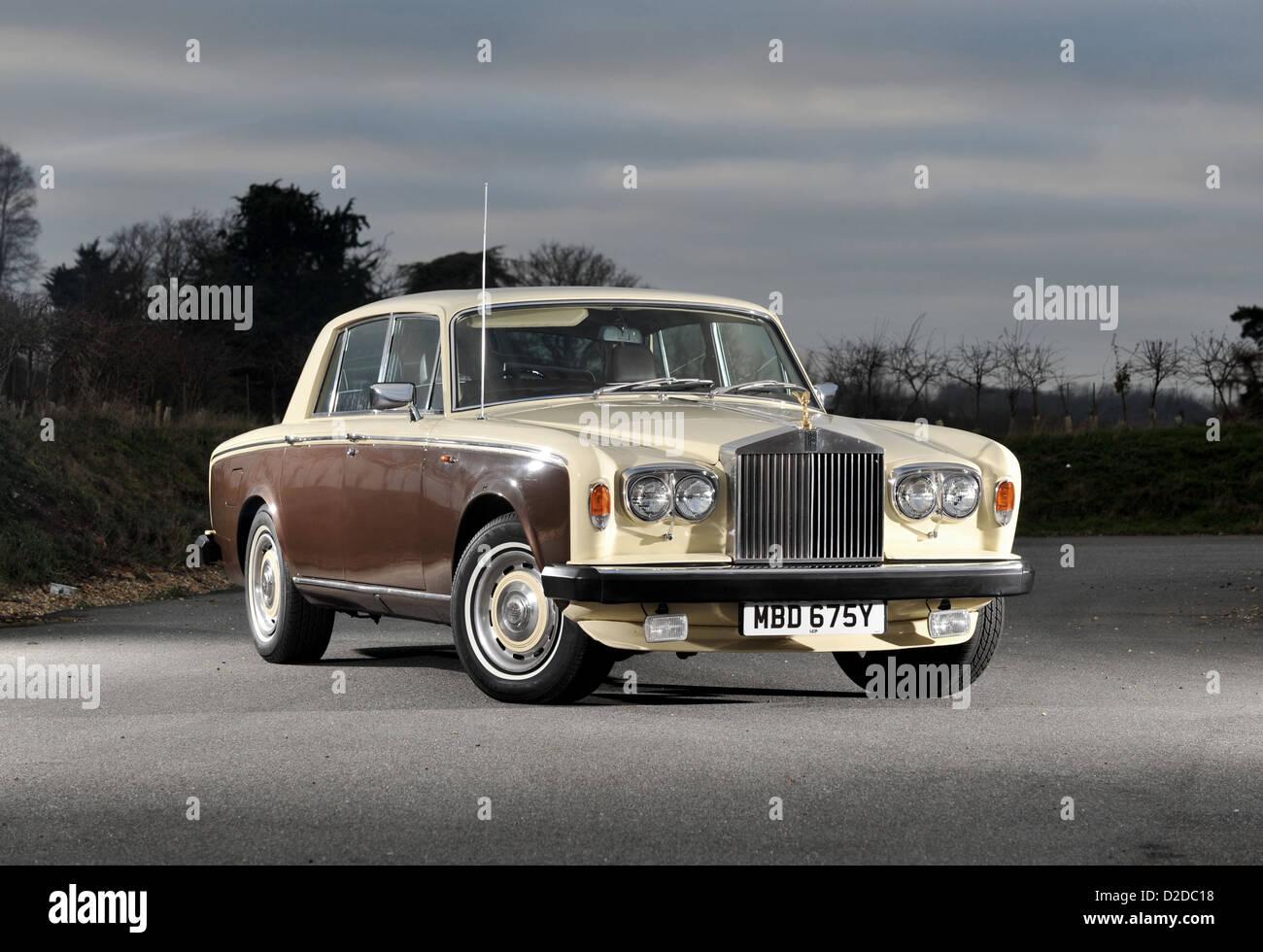 1978-Rolls Royce Silver Shadow II-klassische Luxus-Auto Stockbild