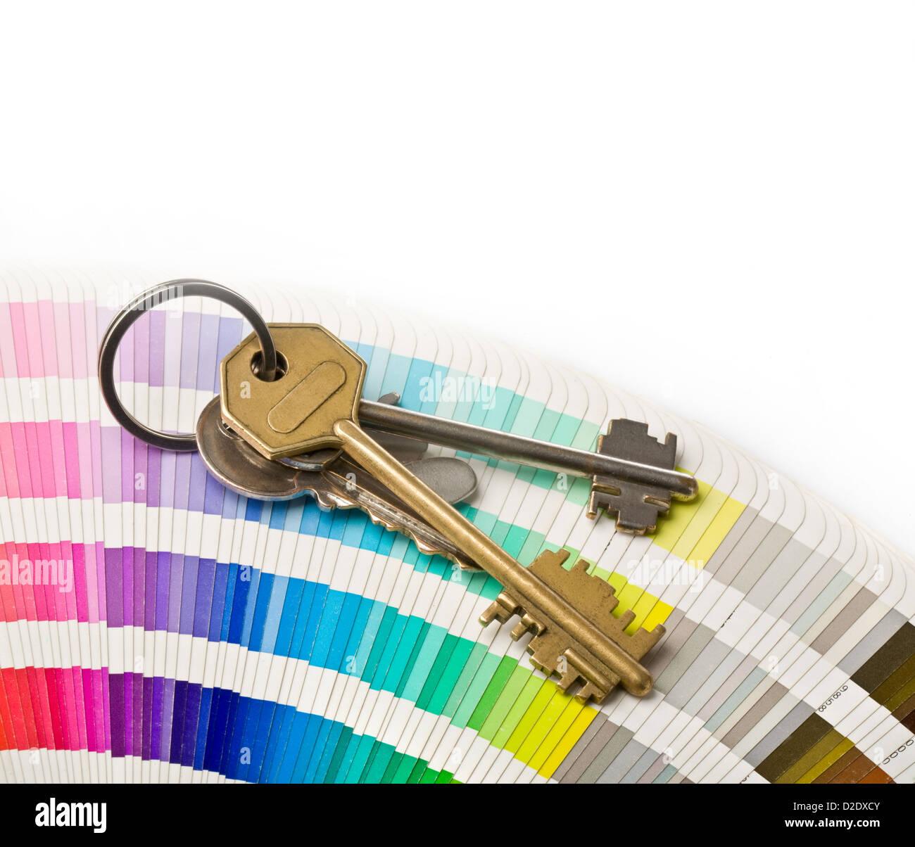 Close Up Pantone Color Catalogue Stockfotos & Close Up Pantone Color ...